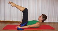 Segunda Posicion del Ejercicio de Pilates