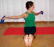 Ejercicio Pilates con Bandas Elasticas