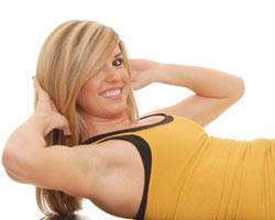 Ejercicio Pilates para abdominales