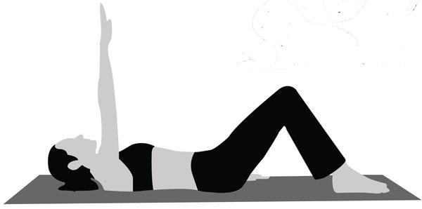 Ejercicio de Pilates posicion inicial