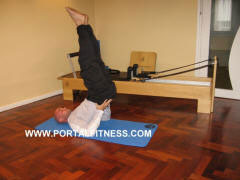 Ejercicio de Pilates Tijeras