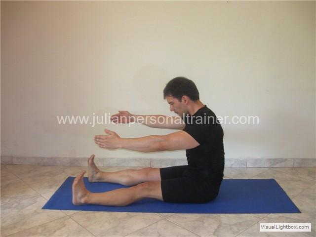 Posicion Inicial y Final del Ejercicio de Pilates